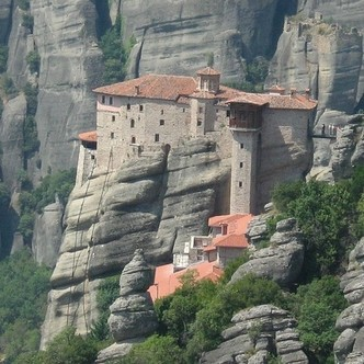 Monastery built on a rock