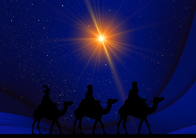 The Christmas star leading the wise men