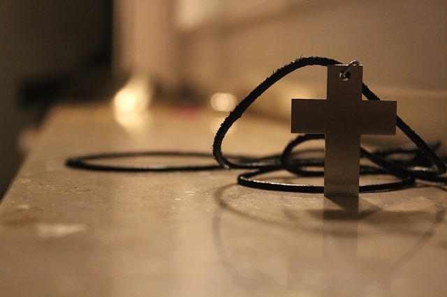 A cross pendant